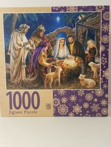 A Child is Born - Christ in a Manger 1000 Piece Jigsaw Puzzle by Masterp... - $18.79