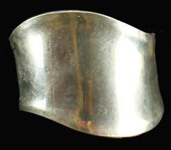 """Vintage Sterling Very Wide Wave Design Elegant Cuff Bracelet 6"""" - $144.89"""