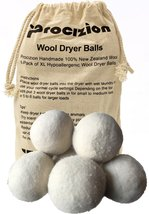 Wool Dryer Balls 6 Pack XL Made of 100% Premium, Organic Wool, Handmade,... - $15.97