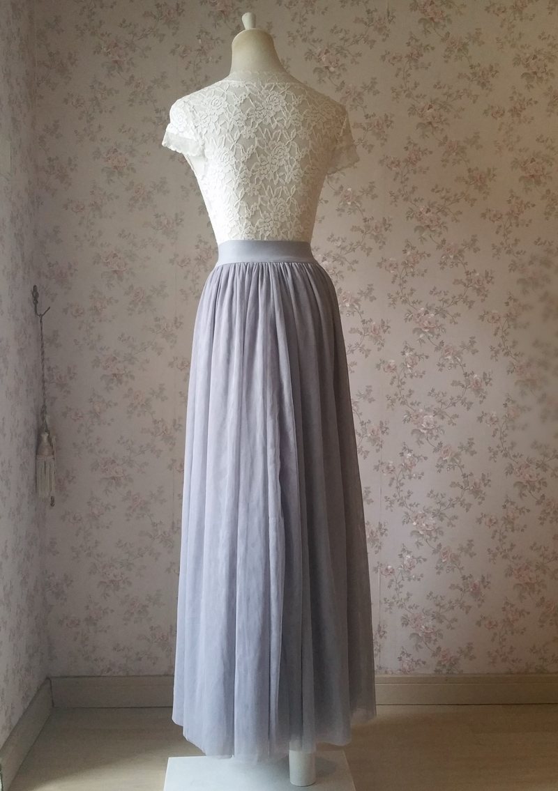 Light gray tulle skirt 6