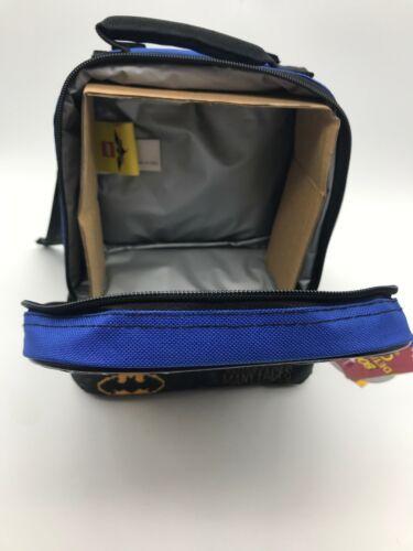 """Lego Batman 9.5"""" Dual Compartment Lunch Bag with Cape bonus Detachable Cape FS!"""
