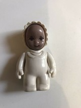 Vtg Little Tikes African American Doll Dollhouse Nursery Baby Figure Rar... - $32.62