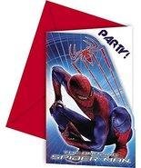 Amazing Spiderman Invites & Envelop (Pack of 6) - $5.50