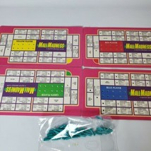 Mall Madness 1989 Replacement Parts Cardboard 4 Scoring Cards 42 Plastic... - $11.30