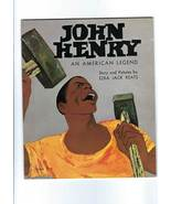 BOOK -- JOHN HENRY, AN AMERICAN LEGEND by Ezra Jack Keats, 2nd. Printing... - $5.50