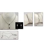 Eisenberg Ice Necklace Bracelet Earrings Red and Clear Rhinestones (#J1350) - $90.00
