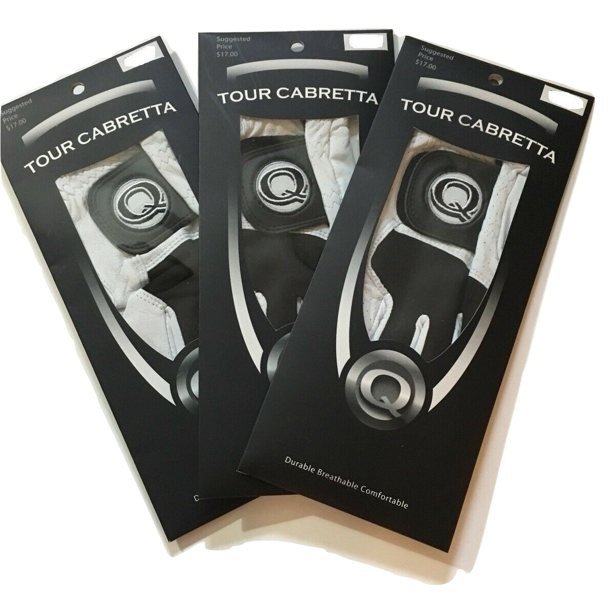 3 Tour Cabretta Leather Golf Gloves Men, All Sizes Available
