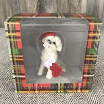 SANDICAST Bichon Frise Dog Christmas Tree Ornament Holding A Stocking Ne... - $13.85
