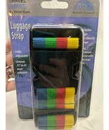 """Victor Kiam Luggage Strap 2"""" Rainbow Extends to 72"""" Travel Smart - $12.95"""
