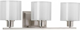 Bathroom Vanity Lighting 23-1/2 in. W 3-Light Down-Up Direction Nickel F... - ₹9,521.51 INR