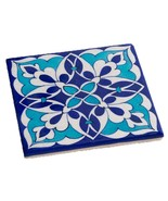 Trivet Blue Abstract Pottery Tile Hot Pad Kitchen Wall Decor Decorative ... - $26.24