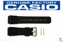 CASIO AMW-320R Original 20mm Black Rubber Watch Band Strap w/ 2 Pins AMW... - $20.65