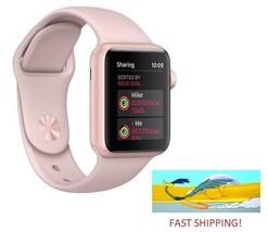Apple Watch Gen 3 Series 3 GPS 38mm Gold Aluminum Pink Sand Sport Band M... - $329.99