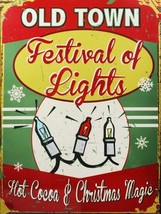 Festival of Lights Metal Sign - $16.95