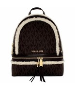 Michael Kors Michael Kors Rhea Fur Signature Leather Backpack Medium - $193.99