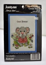 Janlynn Suzy's Zoo God Bless! Counted Cross Stitch Kit with Blue Frame #38-99 - $9.45