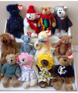 Lot 12 New but Retired Ty ATTIC TREASURES All BEARS as Shown - Some RARE... - $23.52