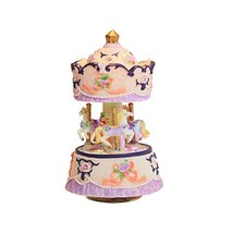 YouTang Clockwork Mechanism 3-Horse Carousel Music Box Melody Carrying Y... - $42.13