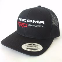 New TRD SPORT TOYOTA TACOMA Hat Cap BLACK YUPOONG EMBROIDERED - $19.99
