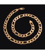 "NEW 14 K Gold Filled Solid FIGARO Chain Necklace~24""~W/Gift Bag~Unisex~G... - $29.99"