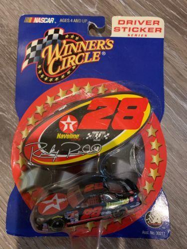 RICKY RUDD #28 TEXACO HAVOLINE DRIVER STICKER SERIES  NASCAR CAR Winners Circle