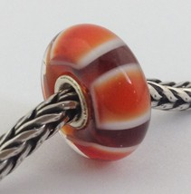 Authentic Trollbeads Retired Red Symmetry (D) Bead Charm, 61408 New - $23.74