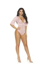Lace & Mesh Deep V Slip on Teddy  Plus & Regular Sizes Woman Lingerie Cl... - $28.98+