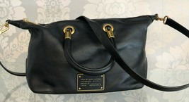 MARC by MARK JACOBS Black Textured Leather Double Top Handle Handbag $428 - $172.16