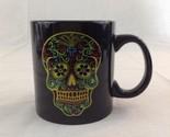 Black Sugar Day Of The Dead Skeleton Black Ceramic Coffee Cup Mug Liquids Drink