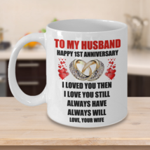 1st 10th 15th 2nd 3rd 4th 5th Wedding Anniversary Customised Gift For Hu... - $14.75