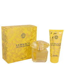 Versace Yellow Diamond Perfume 3.0 Oz Eau De Toilette Spray 2 Pcs Gift Set image 3
