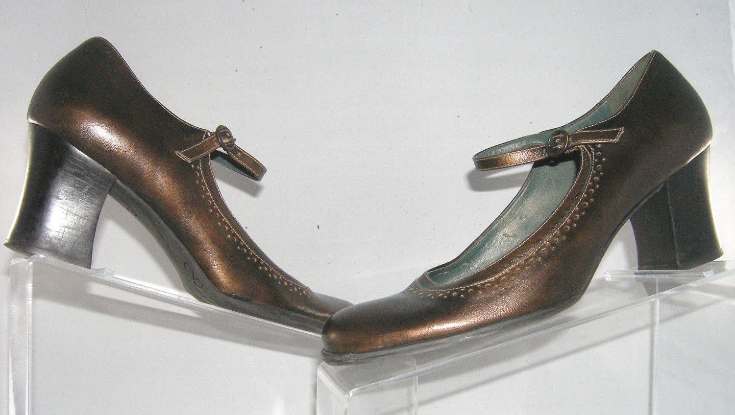 48c453e824f Nine West 'Phillippe' bronze leather mary and 50 similar items