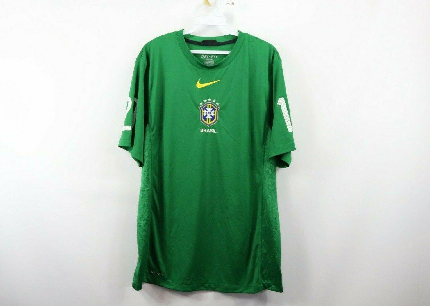8f1b9bb35d9 57. 57. Previous. Nike Mens Large Dri-Fit Training 2010 World Cup Brasil  Brazil Soccer Jersey Tee