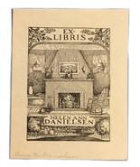 Ex Libris Exlibris Bookplate Anna M Danielsen Helen Ann Hearth Home - $29.69
