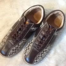 Coach Brown Logo Authletic Shoes Size 8.5 - $43.73