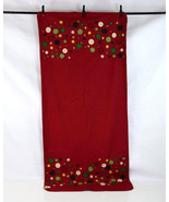 """YANKEE CANDLE Red Wool Felt Button Applique Christmas Table Runner 37"""" x... - $19.79"""