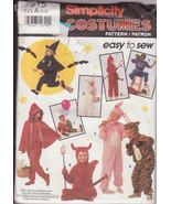 Child Halloween Costumes Pattern Pull-on Jumpsuit Clowns Rabbits Devils ... - $10.00