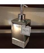 Bella Lux Bathroom Accessory Mirror Crystal Rhinestone Soap Dispenser ~New~ - $42.00