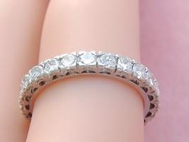 VINTAGE MID-CENTURY 1.20ctw DIAMOND PLATINUM ETERNITY BAND RING 1950 siz... - $1,385.01
