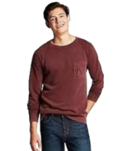 Mossimo Men's Washed Long Sleeve Pullover Pomgranate Mystry Size XL NWT - $15.99