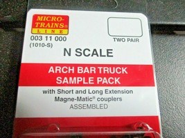 Micro-Trains Stock # 00311000 ARCH BAR Truck Sample Pack Short & Long Extension image 2