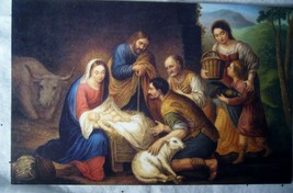 10 Old World Christmas, cards Nativity Scene,  NEW image 1