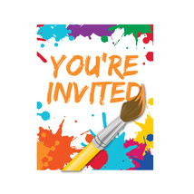 Art Party Invitation with Attachment/Case of 48 - $30.71