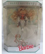1992 Happy Holidays Special Edition Crystal and Silver Barbie - $32.48
