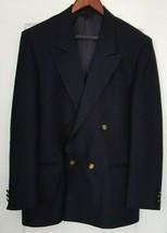 MASCIARELLI Moda Del Mondo Navy Wool Solid Double Breasted Blazer  - $19.79