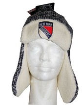 NHL Game Day Trooper Hat, New York Rangers, One Size Fits All, Black/white - $19.79