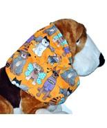 Halloween Dog Costume Party Orange Cotton Dog Snood by Howlin Hounds Siz... - $12.50