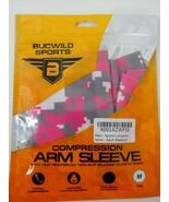 Bucwild Sports compression arm sleeve pink gray digital camo adult medium M - $11.87