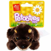 russ® petooties™ brown puppy stuffed animal 5in dachshund new nwt dog  - $11.30