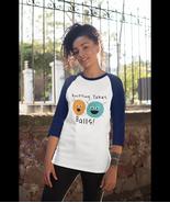 Knitting Takes Ball Funny Graphic Design3/4 sleeve raglan shirt - $26.50+